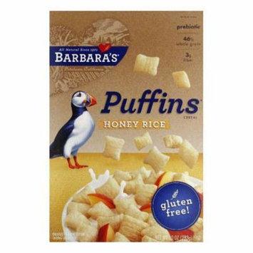 Barbara's Honey Rice Puffins, 10 OZ (Pack of 12)