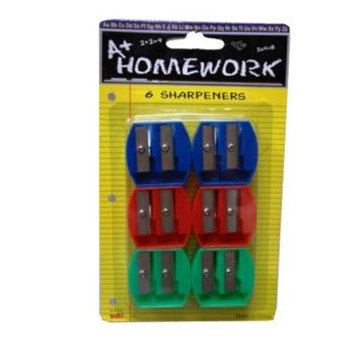 A+homework Pencil Sharpeners - 6 pack - Dual Blades(Case of 48)