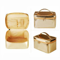 H:oter Women & Girls Cosmetic Bag Makeup Pouch Case Toiletry Bag Make-Up Bag, Gift Ideas--Colors Various, Price/Piece - Gold