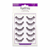 EyeEnvy 304 False Eyelashes with Glue Strip Lashes 5 Pairs by Eye Envy