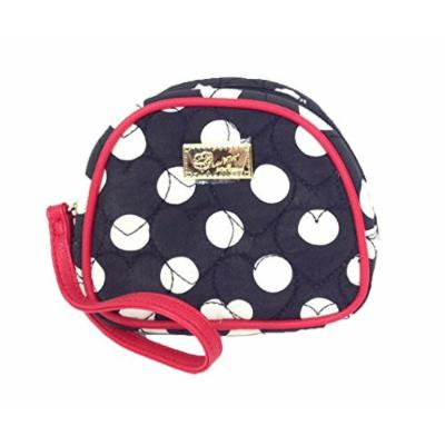 Luv Betsey Johnson Zip Cosmetic Case, Black Polka Dot