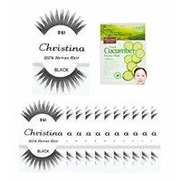 12 Packs #61 Christina 100% Human Hair Fake Eyelashes