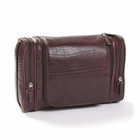 Leatherology Multi Pocket Hanging Toiletry - Italian Leather - Espresso (brown)