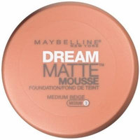 Maybelline New York Dream Matte Mousse Foundation, Medium Beige, 0.64 Ounce, Pack of 2 by Maybelline