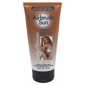 Sally Hansen Airbrush Sun Tan Lotion Light to Medium 5.9oz Tube (3 Pack) by Sally Hansen