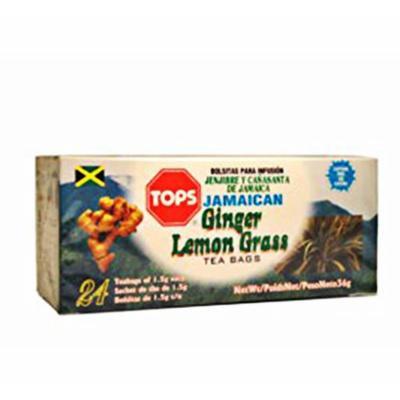 TOPS Ginger Lemon Grass/Fever Grass Tea (Pack of 6)