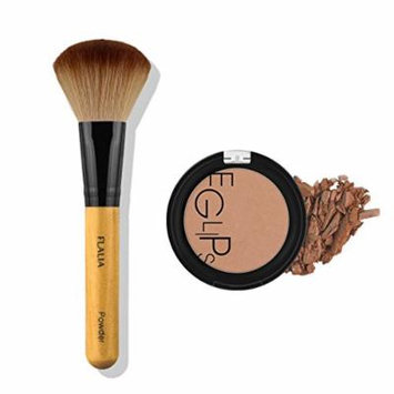 Eglipse Apple Fit Blusher and Flalia Premium Modern Brush SET Shading Brown + Choco Brush
