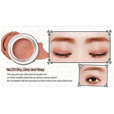 Peripera Wholly Deep VELVET Pot Eye Shadow (1+1) Buy 1 Get 1 (#8 Sweet Mocha Cookie, #3 Girlish Rosy)