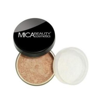 Bundle 2 Items: Mica Beauty Mineral Foundation MF-14 Latte (New Color) + Matching Itay Brow Powder