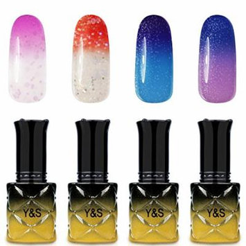 Y&S Gel Nail Polish,Soak Off Gel UV Varnish Temperature Color Changing Series 4Pcs Sets #005