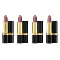 Revlon Super Lustrous Matte Lipstick, Pink Pout 0.15 oz (Pack of 4) + Makeup Blender