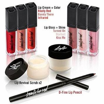 Beauty For Real Ultimate Lip Collection - 9 Piece Set - 2 Lip Scrub - Lip Pencil - 3 Lip Gloss - 3 Lip Cream