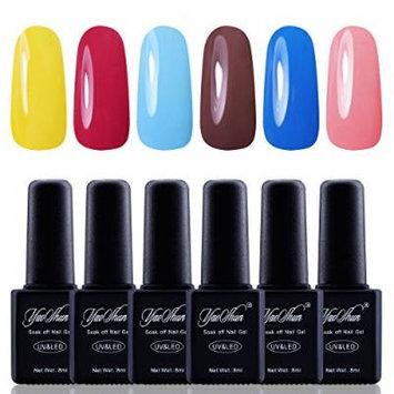 Y&S Gel Nail Polish,Soak Off Gel UV Varnish 6Pcs Sets #010