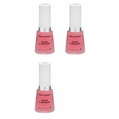 Revlon Nail Treat and Boost, 930, 0.5 Fl Oz (3 Pack) + FREE LA Cross Tweezers 71817