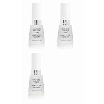 Revlon Nail Polish Multi Care Base+top Coat 0.5 Oz (3 Pack) + FREE LA Cross Blemish Remover 74851