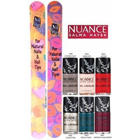 Nuance Salma Hayek Nail Lacquer COLLECTION #1 OF 6 Shades Plus 2 Free Nail Files From fetish for Natural Nails And Nail Tips