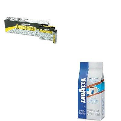KITEVEEN91LAV2440 - Value Kit - Lavazza Gran Filtro Dark Italian Roast Coffee (LAV2440) and Energizer Industrial Alkaline Batteries (EVEEN91)
