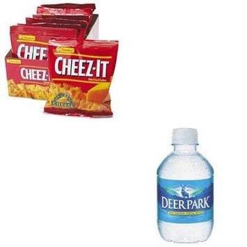 KITKEB12233NLE828473 - Value Kit - Deer Park Natural Spring Water (NLE828473) and Kelloggs Cheez-It Crackers (KEB12233)