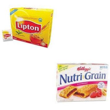 KITKEB35845LIP291 - Value Kit - Kellogg's Nutri-Grain Cereal Bars (KEB35845) and Lipton Tea Bags (LIP291)