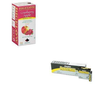 KITBTC10400EVEEN91 - Value Kit - Bigelow Cranberry Apple Herbal Tea (BTC10400) and Energizer Industrial Alkaline Batteries (EVEEN91)