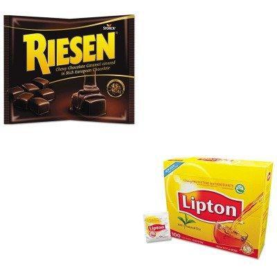 KITLIP291RSN035926 - Value Kit - Riesen Chewy Chocolate Caramel (RSN035926) and Lipton Tea Bags (LIP291)