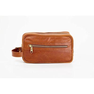 Clava Santa Fe Leather Toiletry Case, Tan