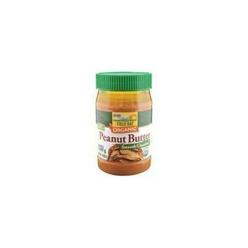 Field Day Organic Easy Spread Peanut Butter, Smooth, No Salt (12x18Oz ) by Field Day