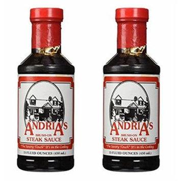 Andria's Steak Sauce 15 oz (Pack of 2)