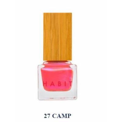 Habit Cosmetics Nail Polish Camp Coral Pink Shimmer Non Toxic