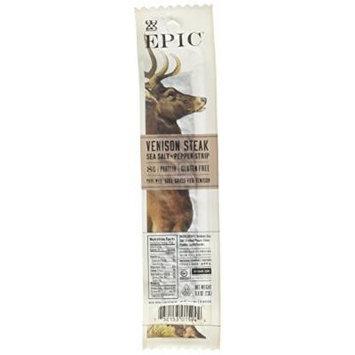 Epic 100% Grass Fed Venison Sea Salt & Pepper Steak Strip, 0.8 Ounce (Pack of 10)