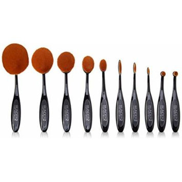 Oh! val Perfect Oval Make-Up Brush Set by WUNDER2