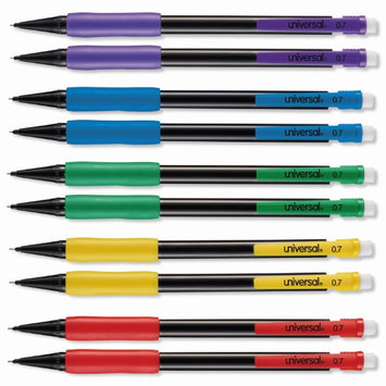 Universal Products Universal Office Products 22003 Mechanical Pencil, 0.7mm, Assorted Barrel, 10/pack