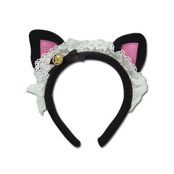 Animal Ears: Cat Bell Black Cosplay Headband