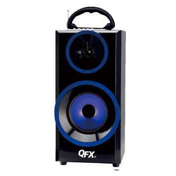 Qfx BT168BL Bluetooth Boombox Blue