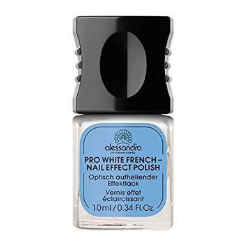 Alessandro professional manicure brighten & whiten Pro White French - nail effect Polish 10 ml by alessandro