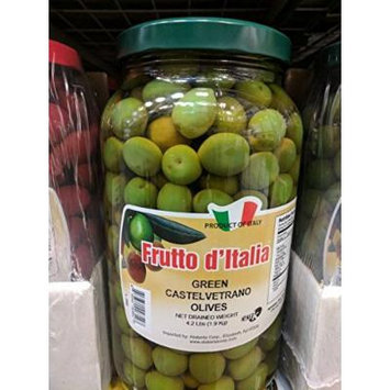 Frutto d'Italia Green Castelvetrano Olives 4.2 Lb (2 Pack)