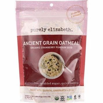 Purely Elizabeth Oatmeal - Organic - Ancient Grain - Cranberry Pumpkin Seed - 10 oz - case of 6 - 95%+ Organic - Gluten Free - Dairy Free - Yeast Free - Wheat Free-