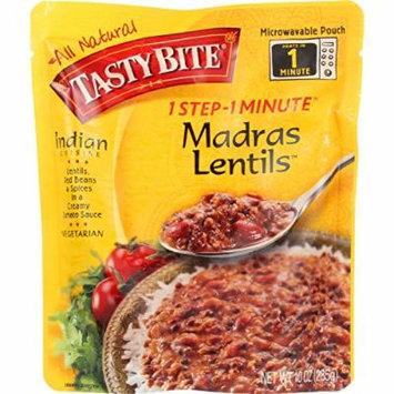 Tasty Bite Entree - Indian Cuisine - Madras Lentils - 10 oz - case of 6 - Gluten Free -