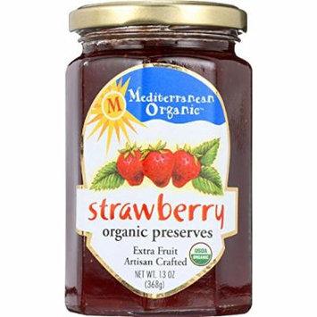 Mediterranean Organic Fruit Preserves - Organic - Strawberry - 13 oz - case of 12