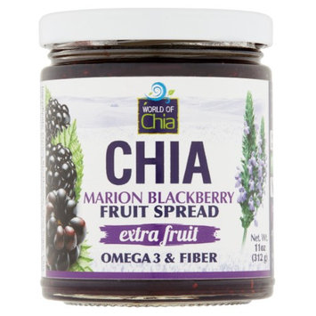 World of Chia Marion Blackberry Fruit Spread, 11 oz, 6 Count
