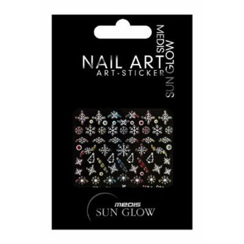 Medis Sun Glow Nail Stickers with Christmas Motifs