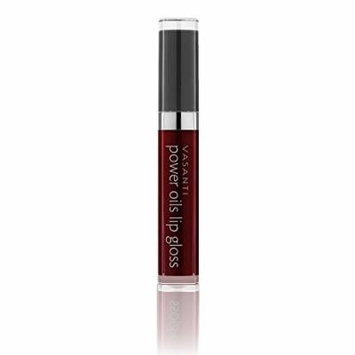 Vasanti Power Oils Lip Gloss - One-Swipe Full Coverage with Non-Sticky Shine. Infused with Lip Nourishing and Hydrating Power Oils - Paraben Free, Vegan Friendly, Never Tested on Animals (Empress)