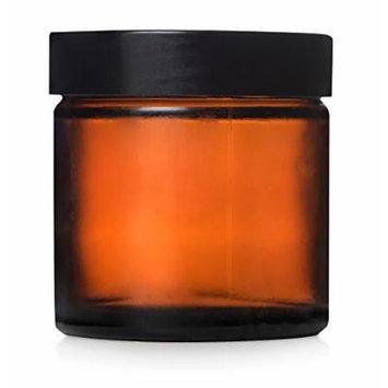 Sanctum Aromatherapy Empty Bottles 60ml Amber Jar with Black Screw Lid, Case of 24