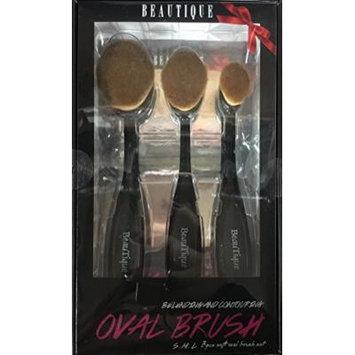 Beautique S.M.L 3 Piece Soft Oval Brush Set