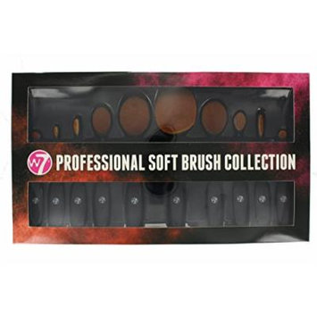 W7 Professional Soft Brush Collection 10 Piece Make Up Brush Set