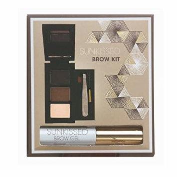 SUNkissed Brow Kit Gift Set 2 x Eye Brow Powder + Highlighter Powder + Brow Gel + Tweezers by Sunkissed