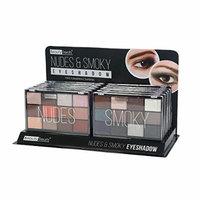 BEAUTY TREATS Nudes & Smoky Eyeshadow Palette Display Case Set 12 Pieces