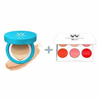 W-Snow Water Cushion 13g #23 (water beige) + W.lab 2 in 1 Flower Lip and Cheek Kit 3g