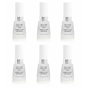 Revlon Nail Polish Multi Care Base+top Coat 0.5 Oz (6 Pack) + FREE LA Cross Blemish Remover 74851