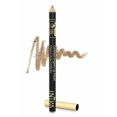 INIKA Certified Organic Lip Liner Pencil, All Natural Formula, Vegan, Rich, Creamy Formula, Suits Sensitive Eyes, 1.2g (Nude Delight)